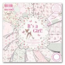 Sada papierov - It's a Girl  (15,2x15,2 cm)