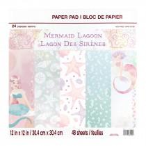 Sada papierov - Mermaid Lagoon 30,5 x 30,5 cm