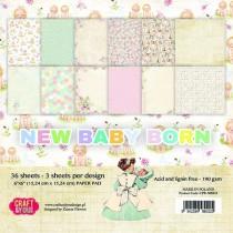 Sada papierov - New Baby Born 6x6 (12ks)