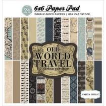 Sada papierov -  Old World Travel (15,2x15,2 cm)