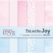 Sada papierov - Pink and blue