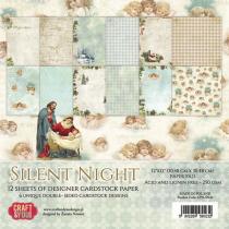 Sada papierov - Silent Night  30,5x30,5 cm (6ks)