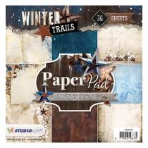 Sada papierov - Winter Trails nr.97  15,2x15,2 cm