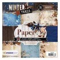 Sada papierov - Winter Trails nr.98  15,2x15,2 cm