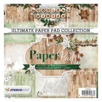 Sada papierov - Woodland Winter nr.91 15,2x15,2 cm
