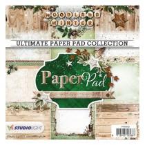Sada papierov - Woodland Winter nr.92 15,2x15,2 cm