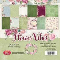 Sada papierov Fllower Vibes 6x6 (12ks)