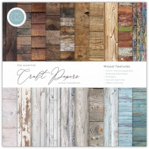 Sada papierov  Wood textures ( 30,5 x 30,5 cm)
