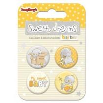 Kovové samolepiace odznaky Sweet dreams 2