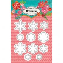 Vyrezávacia šablóna -  3D Flowers nr.95
