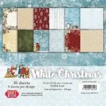 Sada papierov White Christmas 6x6 (12ks)