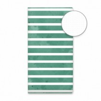 Travel journal - Green stripes