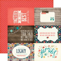 Obojstranný papier - 4 x 6 Journaling Cards Paper