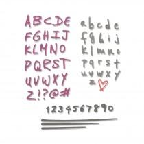 Vyrezávacia šablóna - Abeceda a čísla
