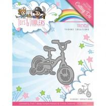 Vyrezávacia šablóna - detský bicykel