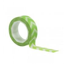 Washi páska - chevron zelený
