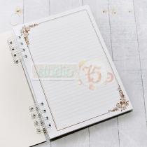 Základ pre zápisník A5 -romantic roses