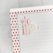 Listy do receptárov - červené bodky