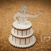Lepenkový výrez - 3D torta s mužom