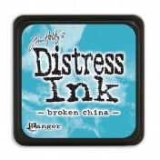 Poduška mini distress - broken china