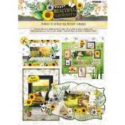 3D papierová stavebnica - Beautiful Sunflowers nr.79