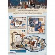 3D papierová stavebnica - Winter trails nr 72