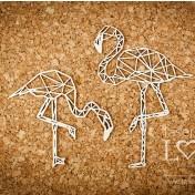 Lepenkový výrez - flamingos