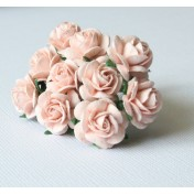 Papierové kvety - open roses 10ks (1,5cm)