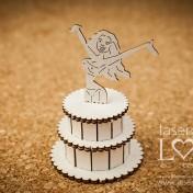 Lepenkový výrez - 3D torta so ženou