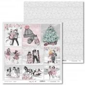 Obojstranný papier - Shabby Winter 06