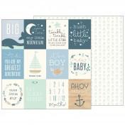 Obojstranný papier - ahoy baby boy