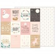 Obojstranný papier - sweet baby girl