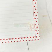 Základ pre receptár - červené bodky