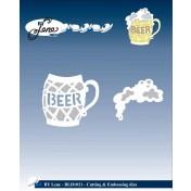 Vyrezávacia šablóna - pivo