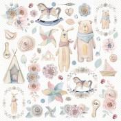 Jednostranný papier - Baby world 07