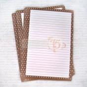 Listy do zápisníka - hnedé bodky