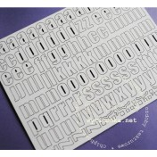 Lepenkový výrez - abeceda