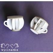 Lepenkový výrez - 3D hrnček