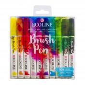 Ecoline Brush Pen - Akvarelové fixky 10ks