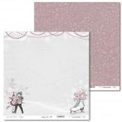 Obojstranný papier - Shabby Winter 04