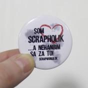 Scrapworld odznaky - Som scrapholik...