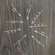 Lepenkový výrez - Doodling šípky