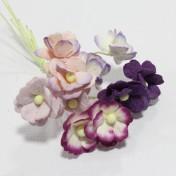 Papierové kvety - sweethearts 10ks purple