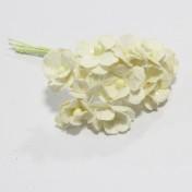 Papierové kvety - sweethearts 10ks ivory