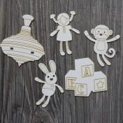 Lepenkový výrez - hračky