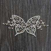 Lepenkový výrez - SUMMER WEDDING motýľ