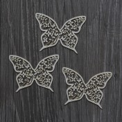 Lepenkový výrez - SUMMER WEDDING motýle