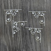 Lepenkový výrez - ornamentové rohy