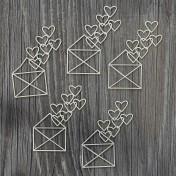Lepenkový výrez - valentínky