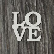 Lepenkový výrez - nápis Love